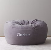 Washed Velvet Bean Bag Cover - Dusty Lilac