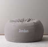Washed Velvet Bean Bag Cover - Grey