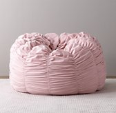 Washed Velvet Ruched Bean Bag - Dusty Rose