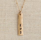 Personalized Eclectic Necklace Gold-Filled Tag