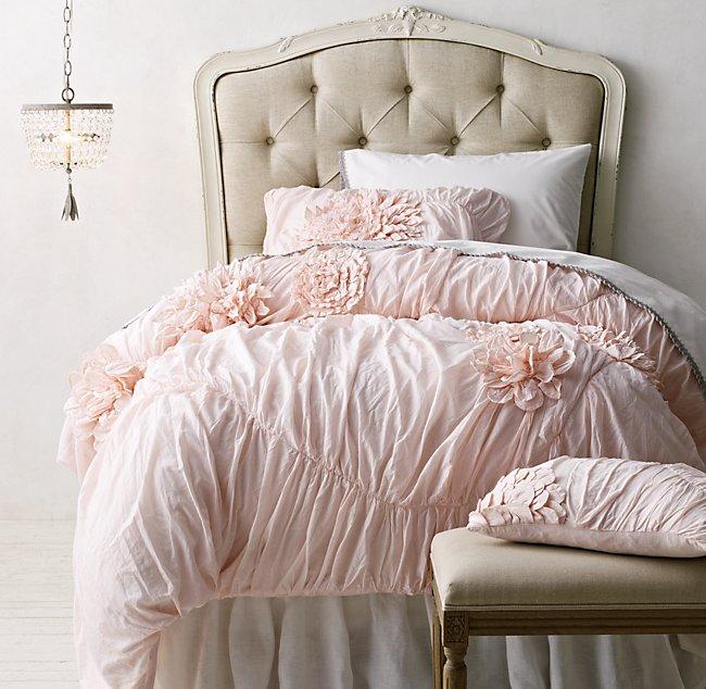 washed appliqud fleur vintage crochet bedding collection - Vintage Bedding