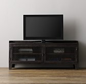 French Railroad Media Console - Weathered Bronze