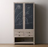 Weller Double Chalkboard Cabinet Top