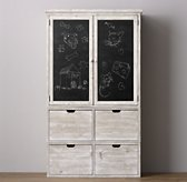 Tribeca Storage Chalkboard Armoire Set