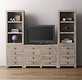 Weller Media Storage Wall Set, Bookcase Tops