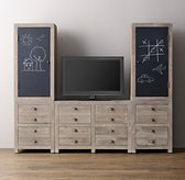 Weller Media Storage Wall Set, Chalkboard Cabinet Tops