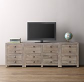 Weller Media Storage Wall Set, 2-Drawer Bases