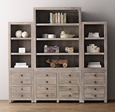 Weller Storage Wall Set, Bookcase & Wide Bookcase Tops