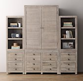 Weller Storage Wall Set, Armoire & Bookcase Tops