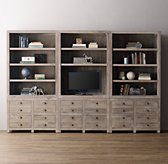 Weller Storage Wall Set, Wide Bookcase Tops (Set of 3)