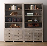 Weller Storage Wall Set, Wide Bookcase Tops - Set of 2