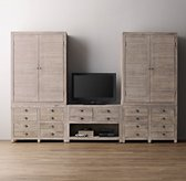 Weller Media Storage Wall Set, Armoire Tops