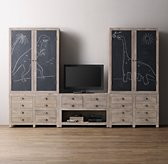Weller Media Storage Wall Set, Chalkboard Armoire Tops