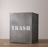 Industrial Metal Wastebasket