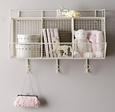 Industrial Wire 3-Bin Shelf - White