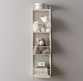 Industrial Wire 3 Cubby Storage - White