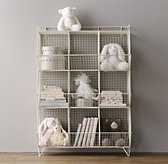 Industrial Wire 9 Cubby Storage - White