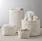 Nursery Canvas Storage - Pink Star