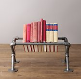 Industrial Pipe Tabletop Book Storage -Small