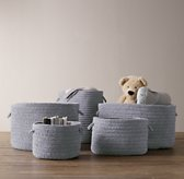Braided Wool Baskets - Marine