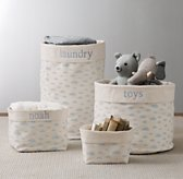 Nursery Canvas Storage - Blue Cloud