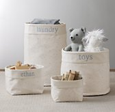 Nursery Canvas Storage - Blue Star