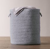 Braided Wool Hamper - Marine