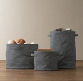 Distressed Canvas Storage Totes