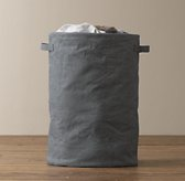 Distressed Canvas Hamper - Blue