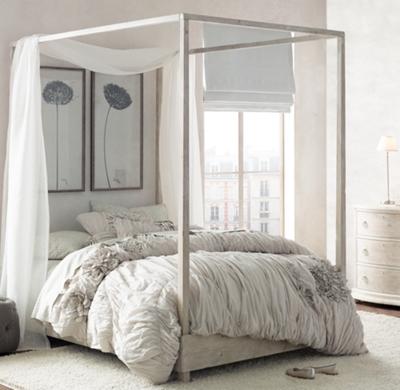& Callum Platform Canopy Bed