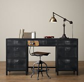 Vintage Locker Large Storage Desk