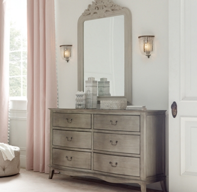 Hand Carved Rococo Dresser Mirror