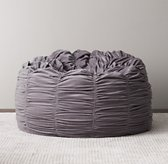 Washed Velvet Ruched Bean Bag - Dusty Lilac