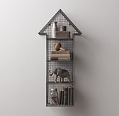 Industrial Wire Cubby Arrow Shelf - Zinc