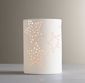 Perforated Star Porcelain Nightlight