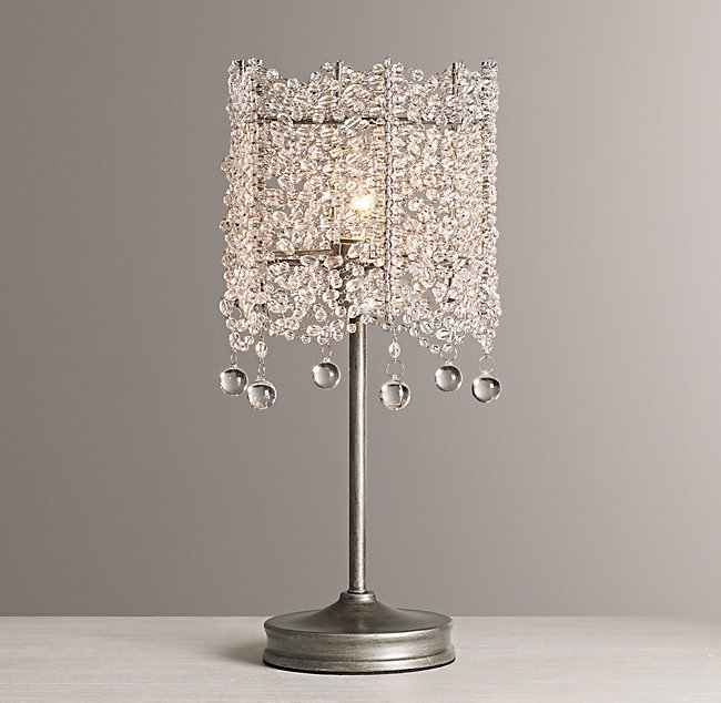 smooth by lamps black product rain with lamp bead lighting clear glow and table crystal