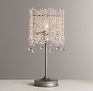 Table lighting rh baby child coco crystal table lamp mozeypictures Choice Image