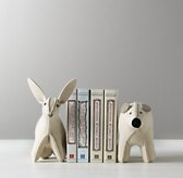 Wool Felt Animal Bookend - Bear & Bunny