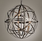 Orbital Sphere Large Pendant - Pewter