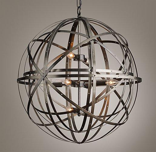 Orbital Sphere Large Pendant Pewter
