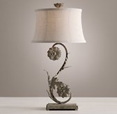 Flora Table Lamp Base - Aged Metal