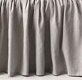 Gathered Linen-Cotton Skirt