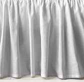 Gathered Linen-Cotton Crib Skirt