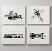 X-Ray Photography Set of 4