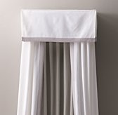 Framed Linen-Cotton Bed Canopy