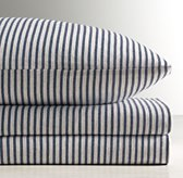 Vintage-Washed Stripe Jersey Sheet Set