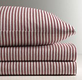 Vintage-Washed Stripe Jersey Standard Pillowcase