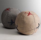 Appliquéd Globe Decorative Pillow