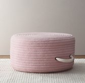 Braided Wool Pouf