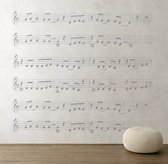 Forever Young Sheet Music Decal - Grey